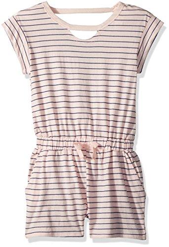 Splendid Big Girls' Yarn Dyed Stripe Romper, Seafoam Pink, 12 by Splendid