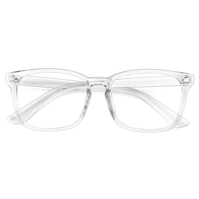 f30612b6d34c Image Unavailable. Image not available for. Color  Slocyclub Blue Light  Blocking Glasses Vintage Nerd Square Keyhole Design Eyeglasses Frame for Women  Men