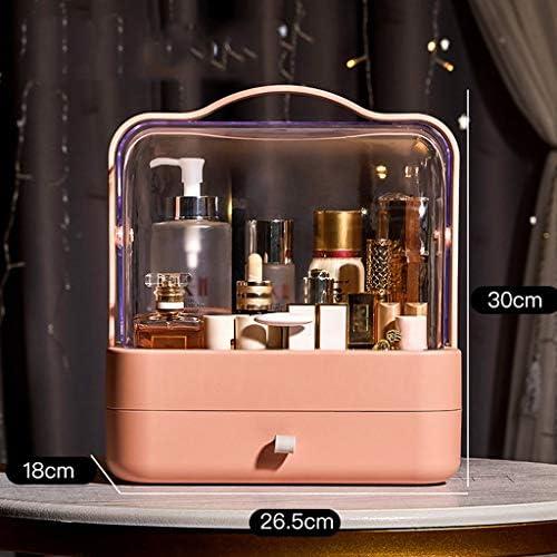 化粧品収納ボックス 家庭用ポータブルスキンケア化粧品収納ボックス防塵引き出しラックサイズホワイトオレンジ XLSM (Color : Orange, Size : S)