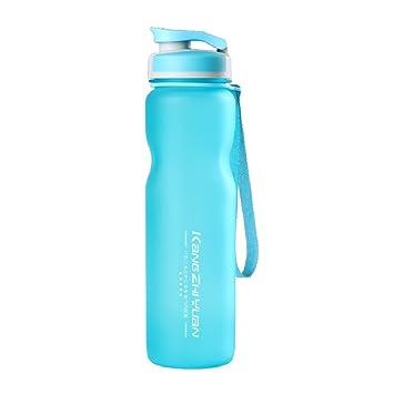 Deportes botella de agua, 35Oz/potable 1L Botella, sin BPA con tapa superior