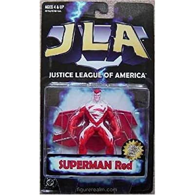 Superman JLA Red Action Figure: Toys & Games