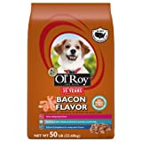 Cheap Ol' Roy Bacon Flavor Dry Dog Food for All Breeds and Sizes – 50lbs (Pack of 2)