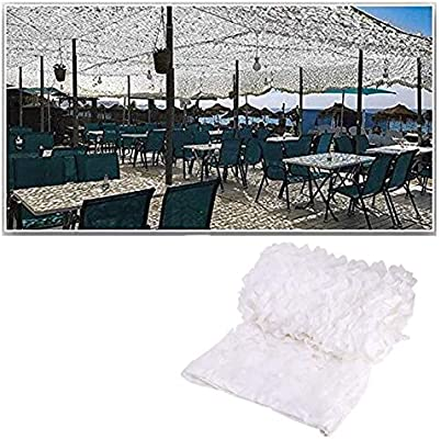 AnnWZW Red de Camuflaje Blanca, 3mx5m Camo Net Army Protección ...