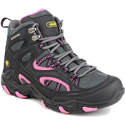 Cotswold Ladies Aggshill Mid Lace Up Leather Walking Hiking Boot Black Blkfuc