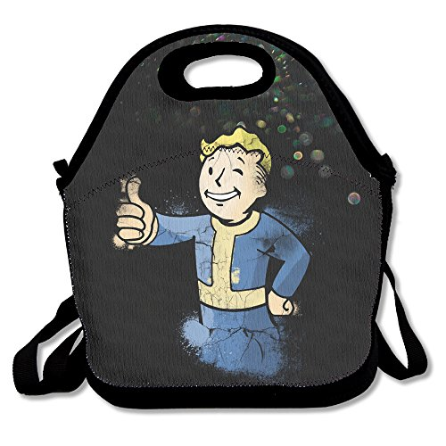 Bekey Fallout Boy Lunch Tote Bag Lunch Box For Women Adults Kids Girls For Travel School Picnic Grocery Bags