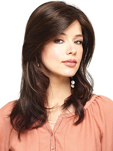 Amore Wigs : Long Mono Top Piece (#752) (Marble Brown) ()