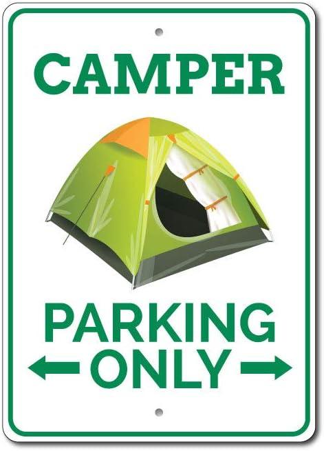 Camper Parking señal, señal de Caravana, Camper Decor, Camper Regalo para Camper Propietario Sign, Tienda de campaña Camping Amante Regalo – Calidad Calidad de Aluminio Sign de Aluminio: Amazon.es: Hogar