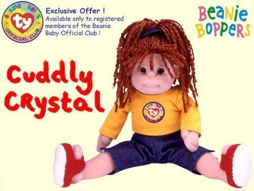 TY Beanie Bopper - CUDDLY CRYSTAL (BBOC Club Exclusive)