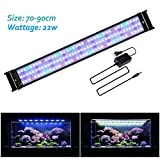 JOYHILL LED Full Spectrum Aquarium Lights,Fish Tank Light with Extendable Brackets,Suitable for Aquatic Reef Coral Plants and Fish Keeping 22W (Fit 70cm-90cm/28-36 inch)