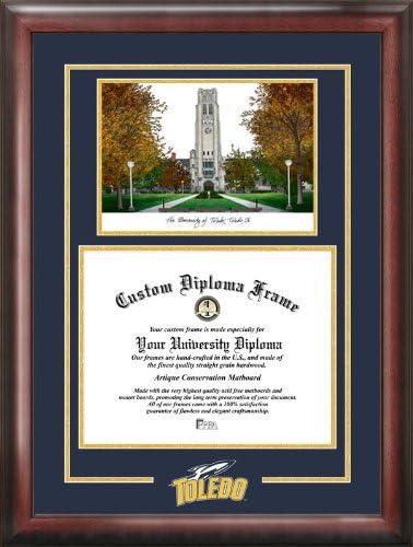 Campus Images OH985SG University of Toledo Spirit Graduate Diploma Frame 8 x 10