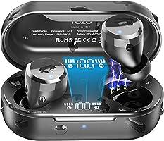 TOZO T12 Wireless Earbuds Bluetooth Headphones Premium Fidelity Sound Quality Wireless Charging Case Digital LED...