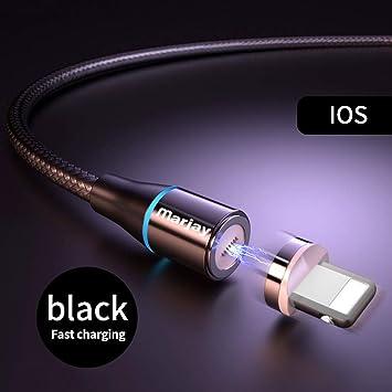 TOUSHI Cable Cargador Cable USB magnético 3A 1m 2m Carga ...