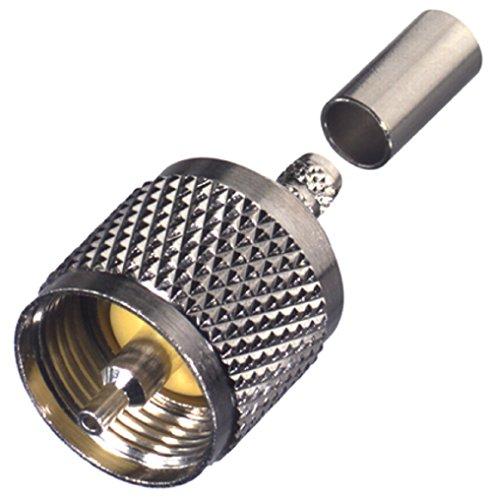 Rf Industries  Uhf  Male Crimp  S S T  For Rg 58 U   Lmr 200  Cbl Grp C C2  Rfu 505 St