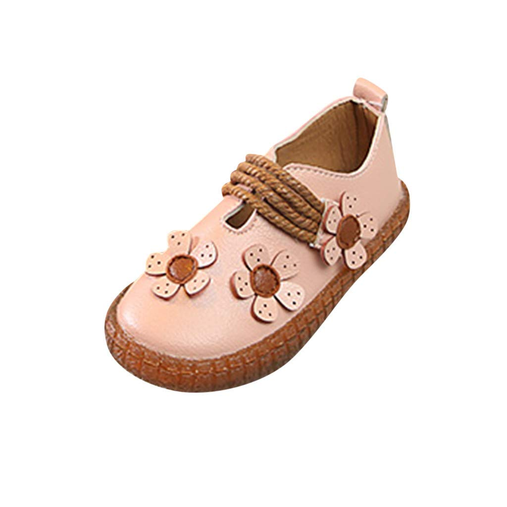 22cab7c110f77 Amazon.com: ❤ Mealeaf ❤ Toddler Infant Kids Baby Girls Soft Floral Single  Princess Shoes Flat Sandals 6 Months -4 Years: Clothing