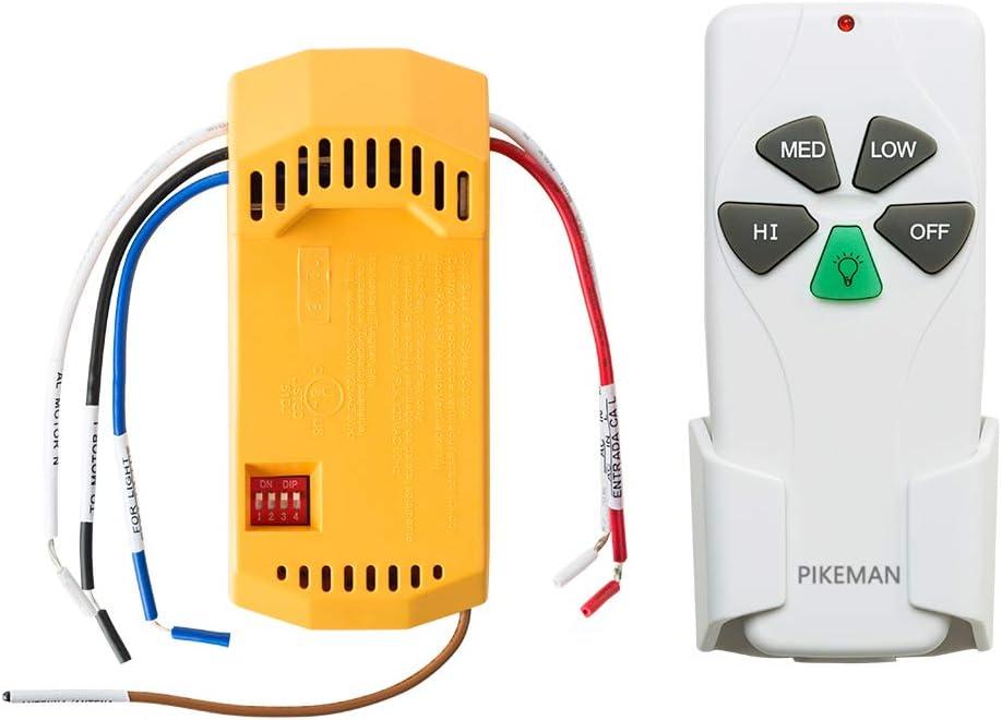 Pikeman Ventilador de techo Mando a distancia y receptor Kit ...