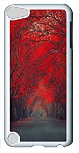 iPod 5 Case Red Leaf Trees PC Custom iPod 5 Case Cover White