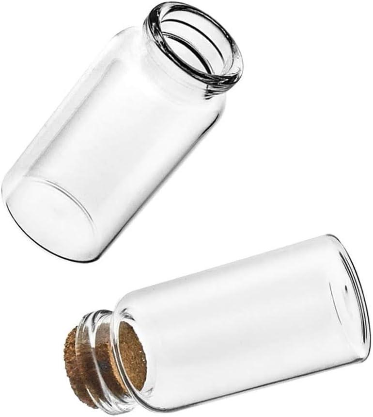 50 Mini bottigliette in vetro con tappo in sughero legno piccola bottiglia bottiglie di vetro RUBY mini boccette di vetro 30mmx60mm con tappo in sughero