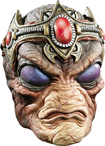 [The Commander Alien Latex Adult Halloween Costume Mask] (Latex Alien Mask)