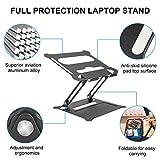Laptop Stand, Adjustable Riser with Slide-Proof