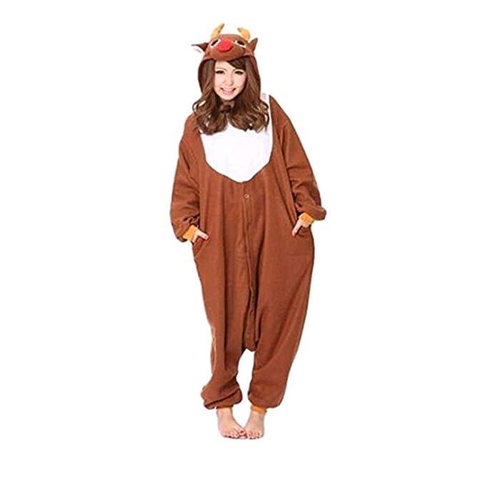 HSTYLE Adulto Unisex Mamelucos Kigurumi Pijamas Animal Trajes de Cosplay de dibujos animados ropa de dormir