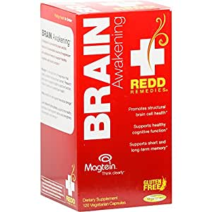 Redd Remedies - Brain Awakening, Short and Long Term Memory Support, 120 count