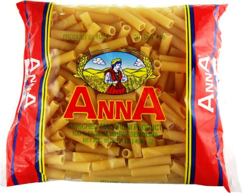 Anna Cut Ziti #18, 1 Pound Bags (Pack of 20) by ANNA