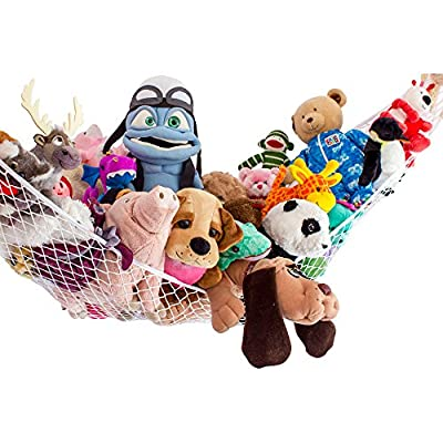 """2 Toy Net """"Stuffie Party Hammock"""" for Stuffed Animals Friends 90""""x60""""x60"""" by Lilly's Love by Lilly's Love"""