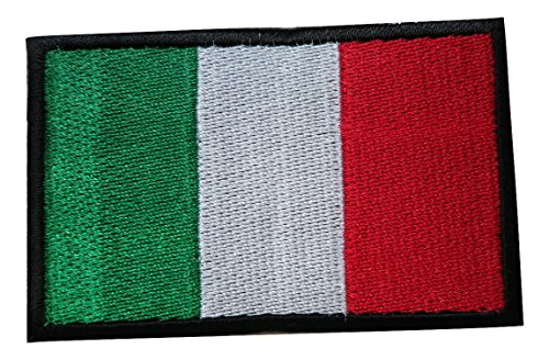 Italian Flag Patches (Italy Italian National Country Flag Embroidered Velcro Patch by TrendyLuz)
