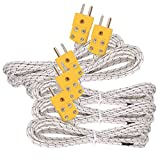 5pcs 3M K Type Mini-Connector Thermocouple Temperature Probe Sensor Measure Range -50~700°C