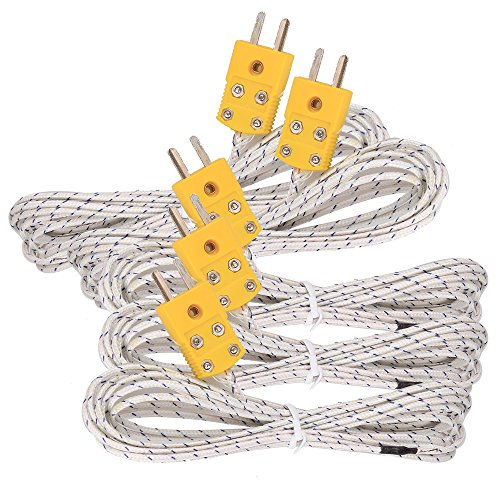 5pcs 3M K Type Mini-Connector Thermocouple Temperature Probe Sensor Measure Range -50~700°C from ZJIA