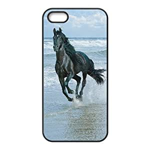 LIULAOSHI Horse Running and Beach Phone Case for iphone5s Black [Pattern-5] by runtopwell