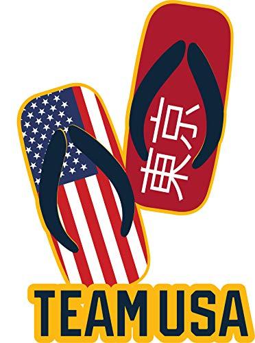 2020 Summer Olympics Tokyo Japan Team USA Flip Flops Sandals Pin (3D ()