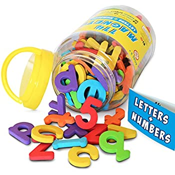 Amazon.com: Learning Resources Jumbo Magnetic Uppercase Letters ...