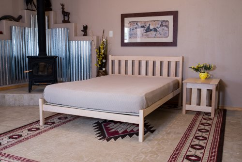 Size Unfinished Bed King (Platform Bed Nomad Furniture Mission Queen Size Maple)