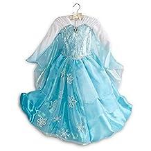 Disney Store Frozen Elsa Deluxe Costume Dress for Girls Size 9-10