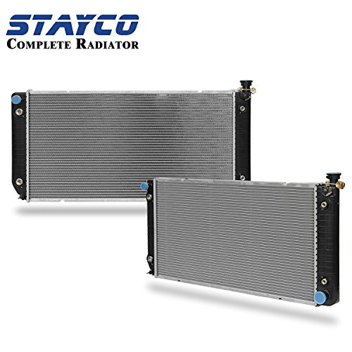 2Row Chevy Radiator Replacement for Chevy C/K Truck Suburban C/K Blazer Cadillac Escalade GMC Yukon 5.7L 7.4L 5.0L