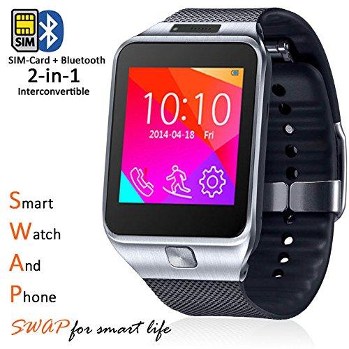 Amazon.com: Indigi elegante reloj GSM inalámbrico Teléfono ...