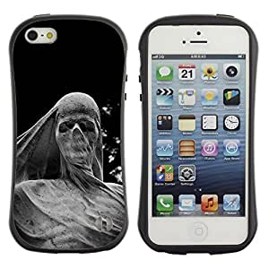 Paccase / Suave TPU GEL Caso Carcasa de Protección Funda para - Deep Meaning Sculpture Scull Metal - Apple Iphone 5 / 5S