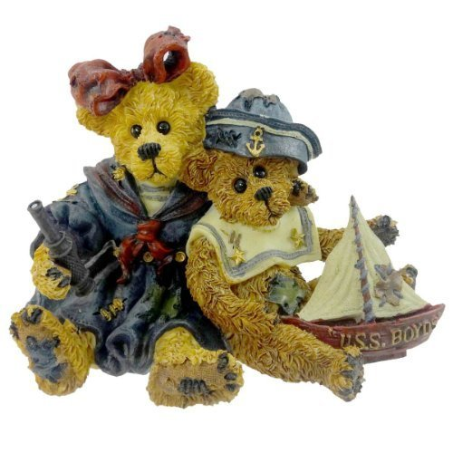 (Boyds Bears Resin Elvira And Chauncey Fitzbruin Sailor Bearstone - Resin 3.50 IN by Boyd Bears and Friends... Bears and Hares You Can)