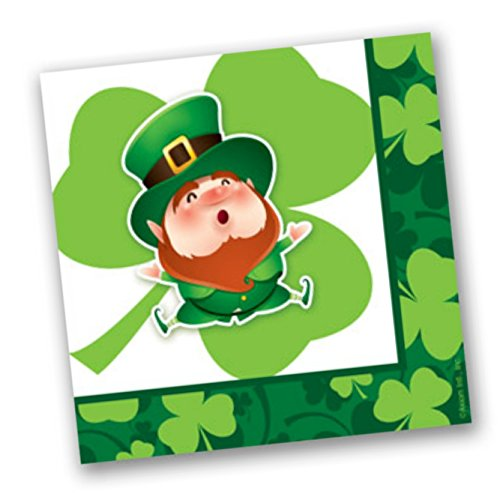 Leprechaun St Patrick Day Lucky Beverage Napkins 80 Count