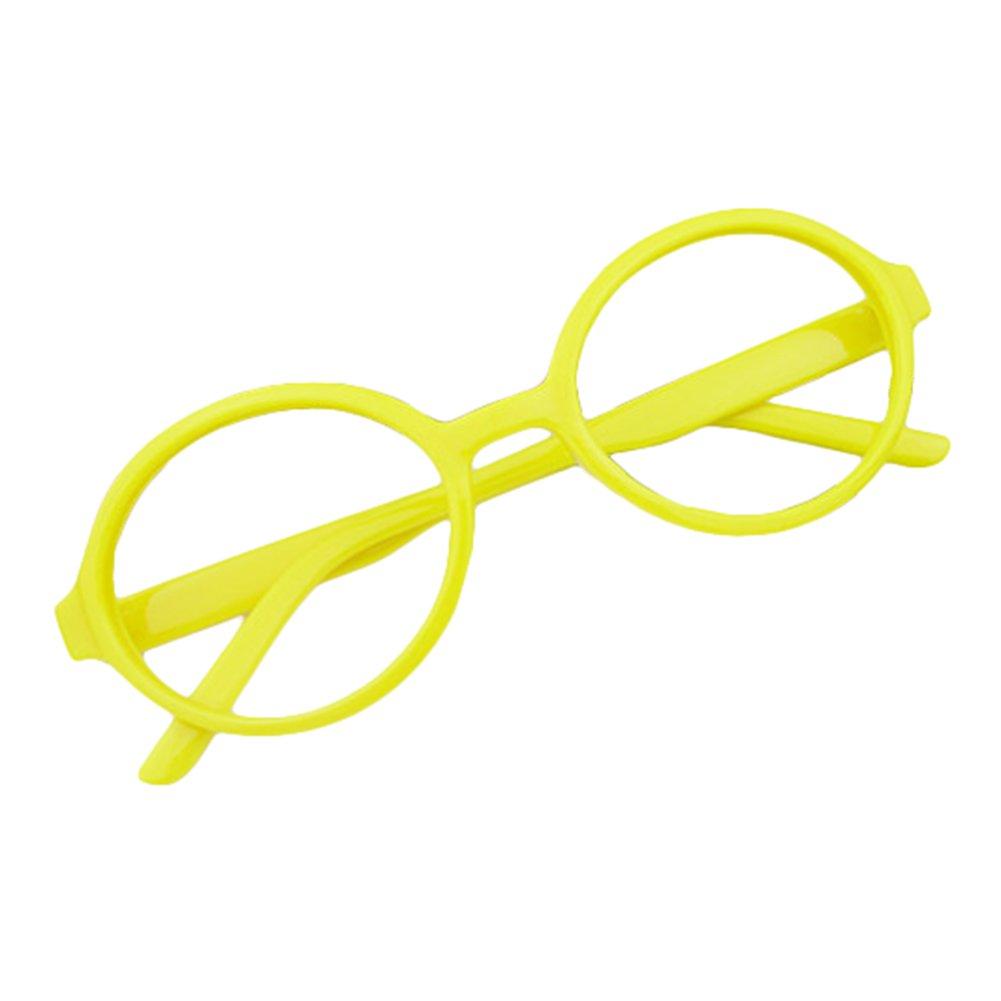 Mädchen Junge Brillen - Rund Stil Brille Kunststoff Brillenfassung Keine Objektive Gläser für Baby Kinder Unisex X170929ETYJJ0605-ka
