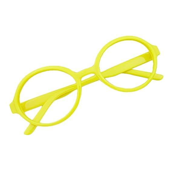 Hibote Redondo Gafas para niños - Gafas de lentes transparentes ...