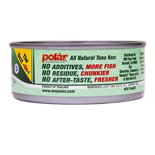MW Polar Tuna, All Natural Chunk Light Tuna, 5-Ounce (Pack of 48)