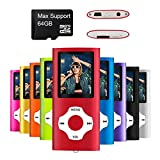 MYMAHDI - Digital, Compact and Portable MP3 / MP4 Player (Max support 64 GB Micro SD Card) with Photo Viewer, E-Book Reader and Voice Recorder and FM Radio Video Movie in Red