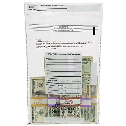 10W x 14H Clear Value Deposit Bags – Case of 1000