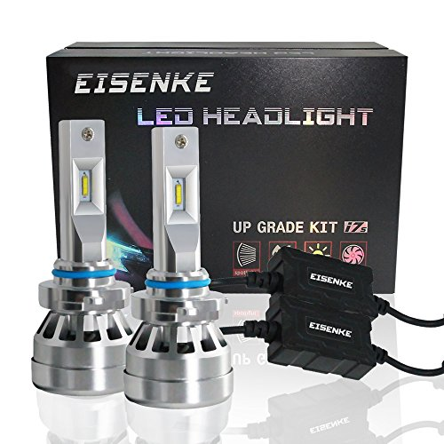 EISENKE 9005 9006 HB3 HB4 Led Headlight Bulbs i7S, For auto Cars Super Bright Conversion Kit Headlamps High Beam 40w low Beam 20W -80W 8000lm 6000K Cool White anti flicker FLP chip