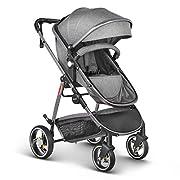 Besrey 2 in 1 Luxury Newborn Baby Stroller Baby Carriage - Gray