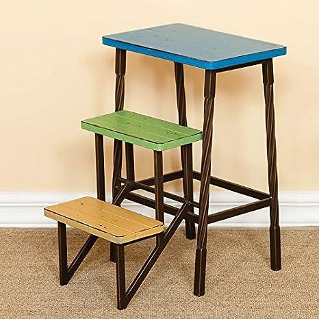 GYP Mini silla de la escalera, silla plegable creativa de la silla de la silla del estante Pequeña escalera del hierro Estilo mediterráneo 27 * 42 * 60cm ( Tamaño : 27*42*60cm )