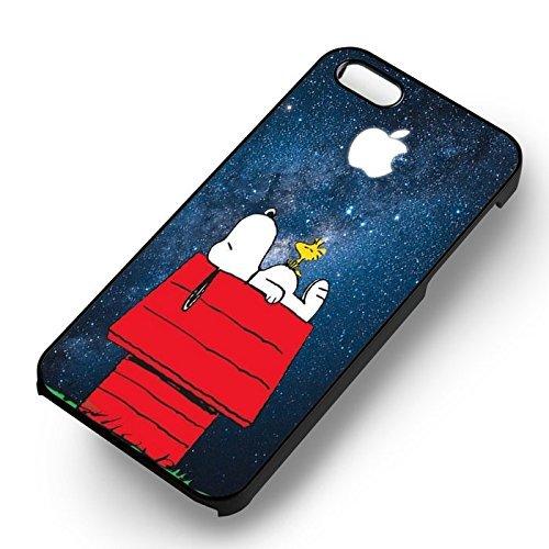 Snoopy Blue Galaxy pour Coque Iphone 6 et Coque Iphone 6s Case (Noir Boîtier en plastique dur) R7W2GJ