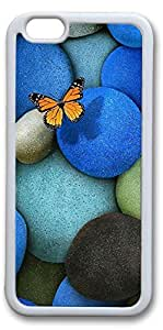 iPhone 6 Cases, Lonely Butterfly Personalized Custom Soft TPU White Edge Case Cover for New iPhone 6 4.7 inch